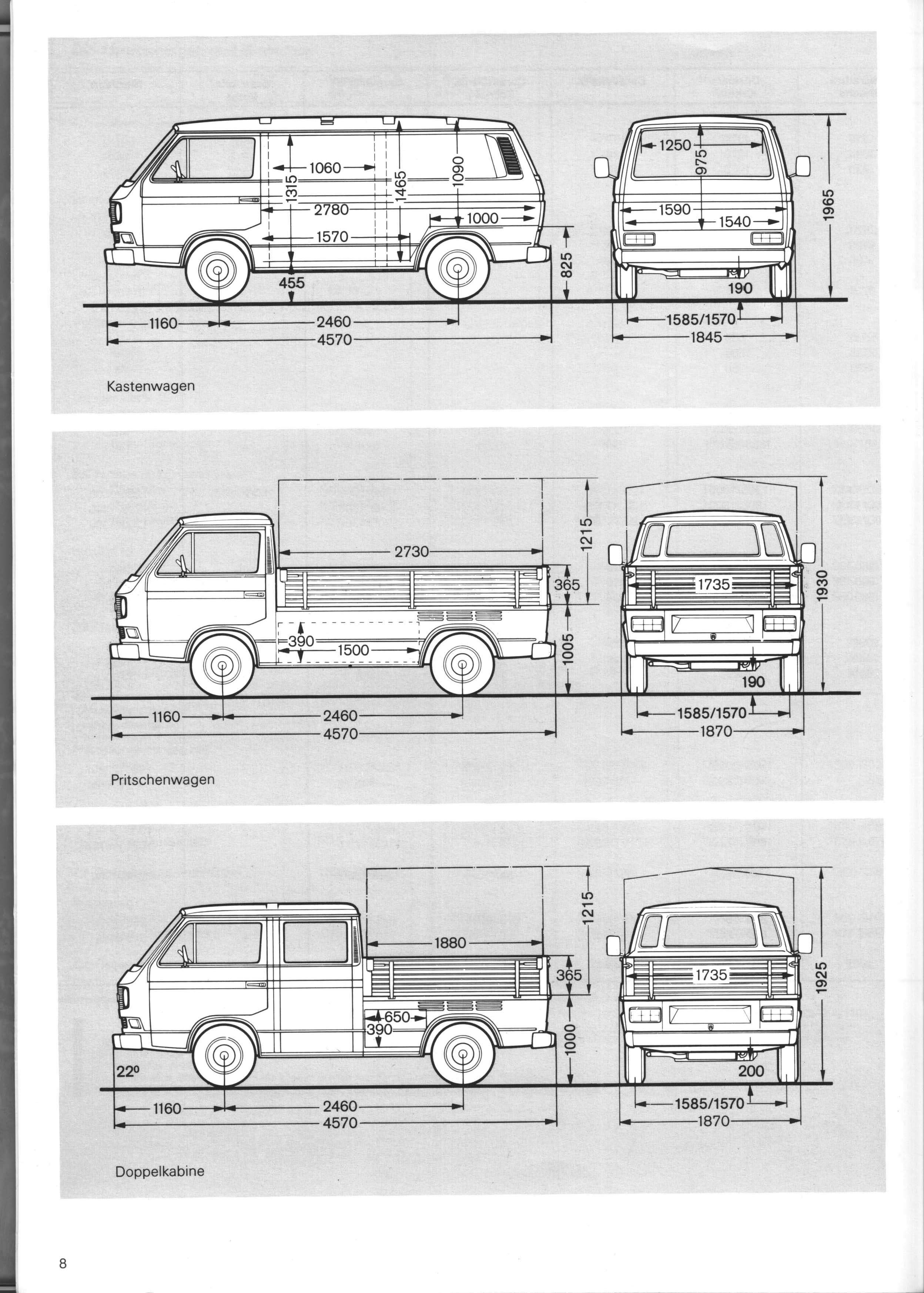 vanagon view topic vanagon and doka line drawings with measurements. Black Bedroom Furniture Sets. Home Design Ideas
